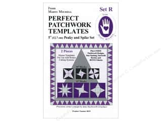 Guidelines 4 Quilting Rotary Rulers & Templates: Marti Michell Template Set R Peaky & Spike 5""