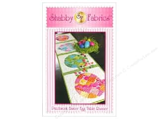 Quilted Trillium, The Table Runner & Kitchen Linens Patterns: Shabby Fabrics Patchwork Easter Egg Table Runner Pattern