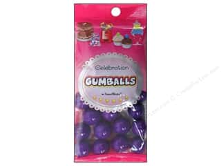 Edibles / Foods inches: SweetWorks Celebration Gumballs 8 oz. Dark Purple