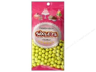 Edible Decorations / Icing / Sprinkles: SweetWorks Celebration Sixlets 14 oz. Shimmer Yellow