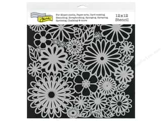 The Crafter's Workshop Template 12 x 12 in. Flower Frenzy