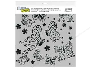 The Crafter's Workshop Template 12 x 12 in. Butterflies