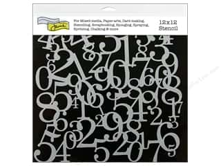 The Crafter's Workshop Template 12 x 12 in. Numbers Collage