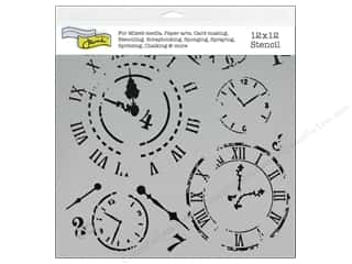 Craft & Hobbies The Crafters Workshop Stencil: The Crafter's Workshop Template 12 x 12 in. Time Travel