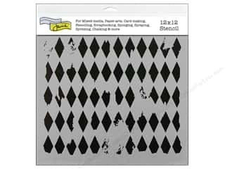 Craft & Hobbies The Crafters Workshop Stencil: The Crafter's Workshop Template 12 x 12 in. Harlequin