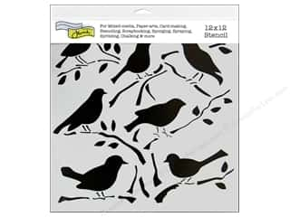 The Crafter's Workshop Template 12 x 12 in. Birds