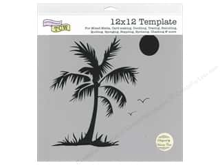 The Crafter's Workshop Template 12 x 12 in. Palm Tree
