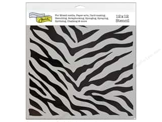 The Crafter's Workshop Template 12 x 12 in. Zebra Print