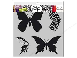 The Crafter's Workshop Template 12 x 12 in. Layered Butterflies