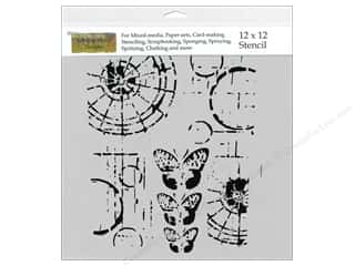 Craft & Hobbies The Crafters Workshop Stencil: The Crafter's Workshop Template 12 x 12 in. Specimens