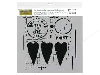 Stenciling The Crafters Workshop Stencil: The Crafter's Workshop Template 12 x 12 in. Love Post