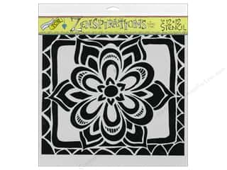 The Crafter's Workshop Template 12 x 12 in. Zen Flower
