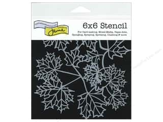 The Crafter's Workshop Template 6 x 6 in. Maple Leaves