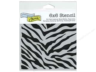 Crafter's Workshop, The Animals: The Crafter's Workshop Template 6 x 6 in. Zebra Print