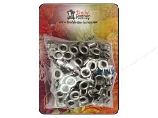"Leather Factory Leather Factory Hardware: Leather Factory Hardware Eyelet 3/16"" Nickel 100pc"