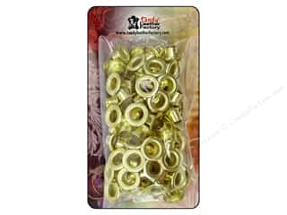 "Leather Factory Grommet/Eyelet: Leather Factory Hardware Eyelet .25"" Brass 100pc"