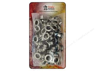 "Clearance Blumenthal Favorite Findings: Leather Factory Hardware Eyelet .25"" Nickel 100pc"