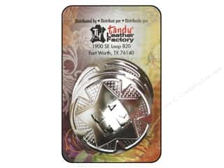 "Leather Factory $10 - $12: Leather Factory Concho Round with Star 1.25"" Nickel 10pc"