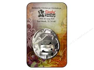 "Leather Factory $10 - $12: Leather Factory Concho Round With Star 1"" Nickel 10pc"