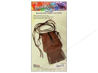 "Leatherwork Clearance: Leather Factory Quick Kit Fringe Bag 5 1/2""x 6"""