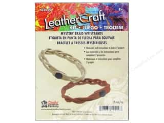 Clearance Blumenthal Favorite Findings: Leather Factory Quick Kit Mystery Braid Wristband