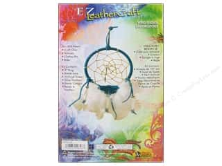 Craft & Hobbies: Leather Factory Kits Wind Feather Dreamcatcher