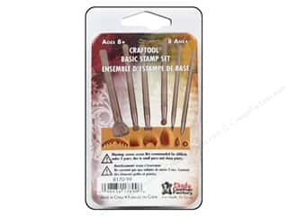 Clearance Blumenthal Favorite Findings: Leather Factory Tool Stamping Set Basic 6pc
