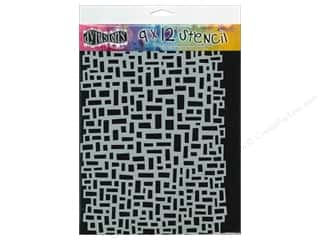 "Stenciling Clearance Crafts: Ranger Stencil Dylusions 9""x 12"" Blocks"