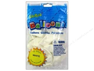 "Pioneer National Latex Metallic: Pioneer National Latex Balloons Funsational Deco 12"" 12pc White"