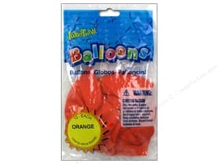 "Party Supplies: Pioneer National Latex Balloons Funsational Deco 12"" 12pc Orange"