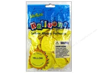 "PNL Balloons Funsational Deco 12"" 12pc Yellow"