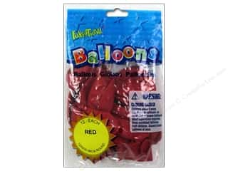"Party Favors Party & Celebrations: Pioneer National Latex Balloons Funsational Deco 12"" 12pc Red"