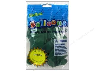 "Pioneer National Latex Metallic: Pioneer National Latex Balloons Funsational Deco 12"" 12pc Green"