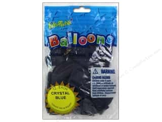 "Party Favors Basic Components: Pioneer National Latex Balloons Funsational Deco 12"" 12pc Crystal Blue"