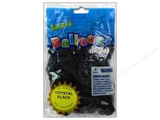 "PNL Balloons Funsational Deco 12"" 12pc Crystal Blk"