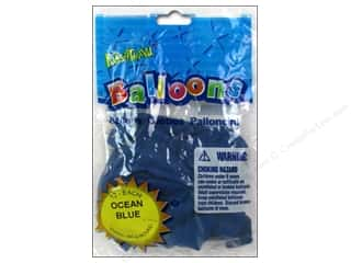 "Pioneer National Latex Metallic: Pioneer National Latex Balloons Funsational Deco 12"" 12pc Ocean Blue"