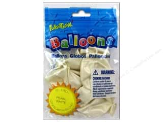 "Pioneer National Latex Metallic: Pioneer National Latex Balloons Funsational Deco 12"" 10pc Pearl White"