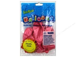 "Party Favors 12"": Pioneer National Latex Balloons Funsational Deco 12"" 10pc Pearl Pink"