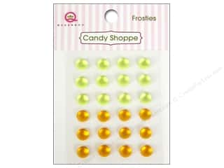 Rhinestones Queen&Co Sticker: Queen&Co Sticker Candy Shoppe Frosties Yellow