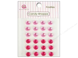 Rhinestones Queen&Co Sticker: Queen&Co Sticker Candy Shoppe Frosties Pink