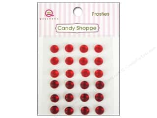 Rhinestones Queen&Co Sticker: Queen&Co Sticker Candy Shoppe Frosties Red