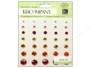 K&Co Adhesive Embel LA Raspberry Lemonade Gems