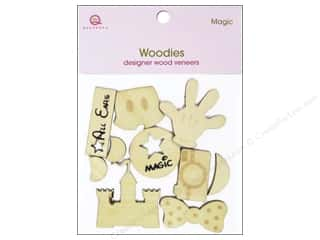 Queen & Company Novelty Buttons: Queen&Co Embellishments Magic Woodies
