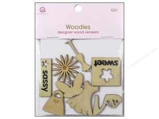 Queen&Co Embellishments Girl Woodies