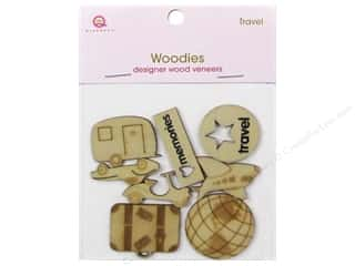 Queen&Co Embellishments Travel Woodies