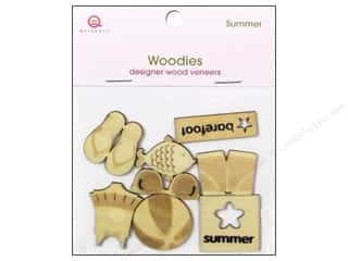 Dads & Grads Embellishments: Queen&Co Embellishments Summer Woodies