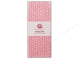Baking Supplies Scrapbooking & Paper Crafts: Queen&Co Stylish Stix Flower Light Pink 25pc
