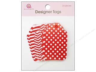 Queen & Company Papers: Queen&Co Designer Tags Red