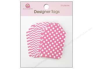 Tags Clearance Crafts: Queen&Co Designer Tags Pink