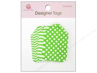 Queen & Company: Queen&Co Designer Tags Green